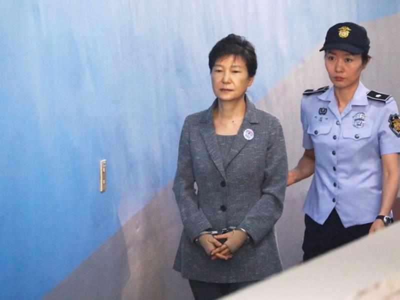 Former South Korean President Park Geun-hye arrives at a court in Seoul last year. Photo: Reuters/Kim Hong-Ji