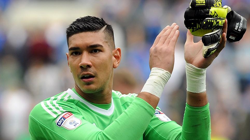 Gunning for promotion to the English Premier League – Cardiff City's Filipino goalkeeper, Neil Etheridge. Photo via cardiffcity.co.uk