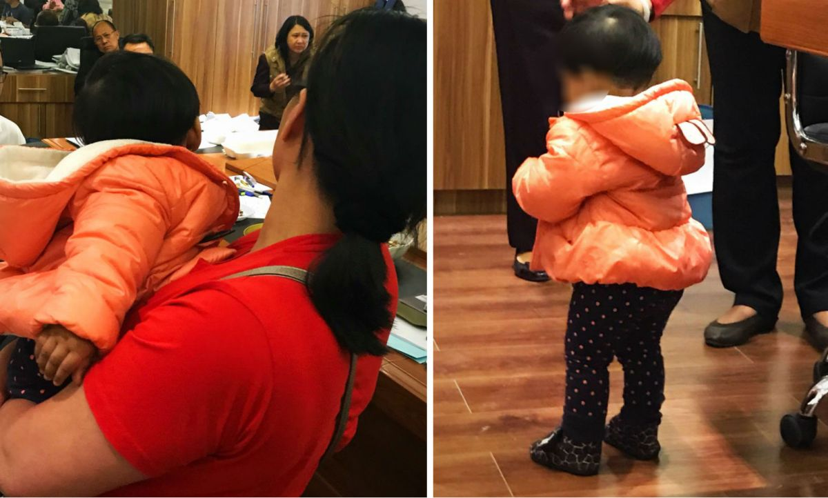 A Filipino woman was reunited with her one-year-old daughter after they had been separated for three months. Photos: Philippine Department of Foreign Affairs