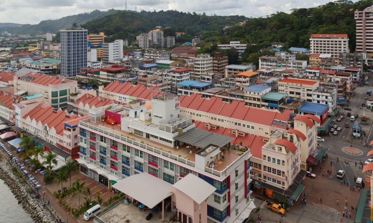 The city of Sandakan in Sabah state, Malaysia. Photo: Wikimedia Commons, Uwe Aranas