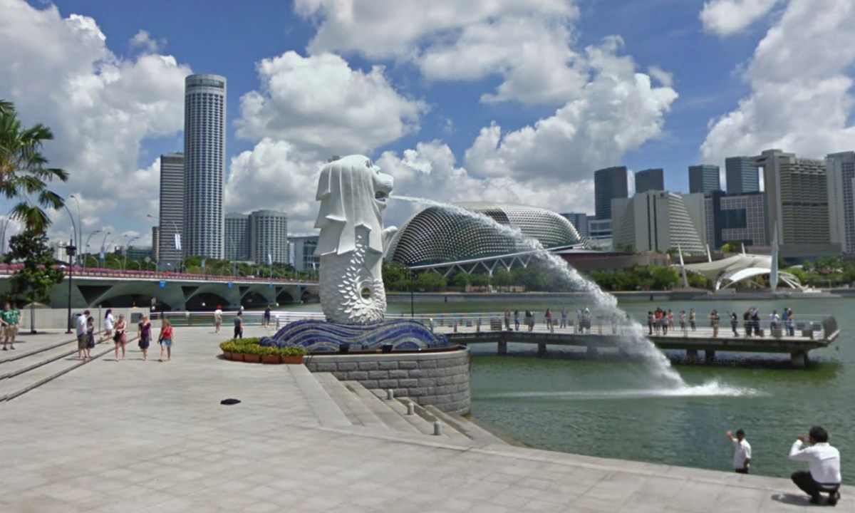 The iconic Merlion in Singapore. Photo: Google Maps