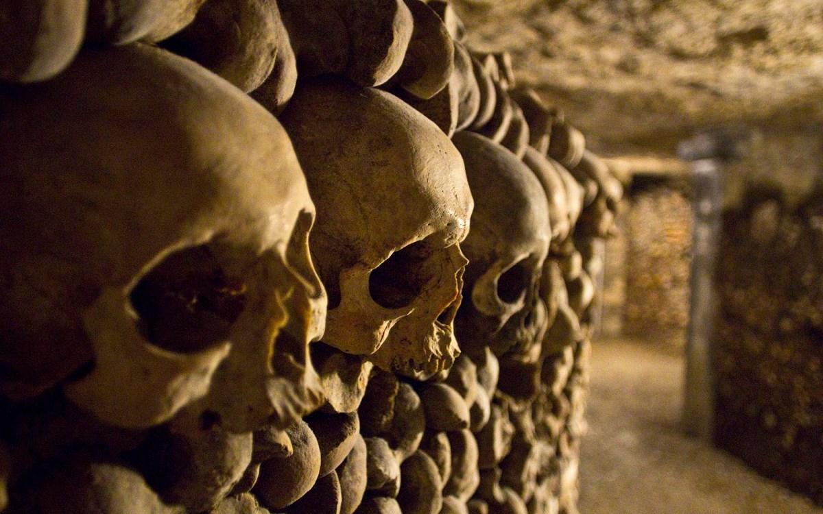 Deep inside the Catacombs of Paris. Photo: iStock