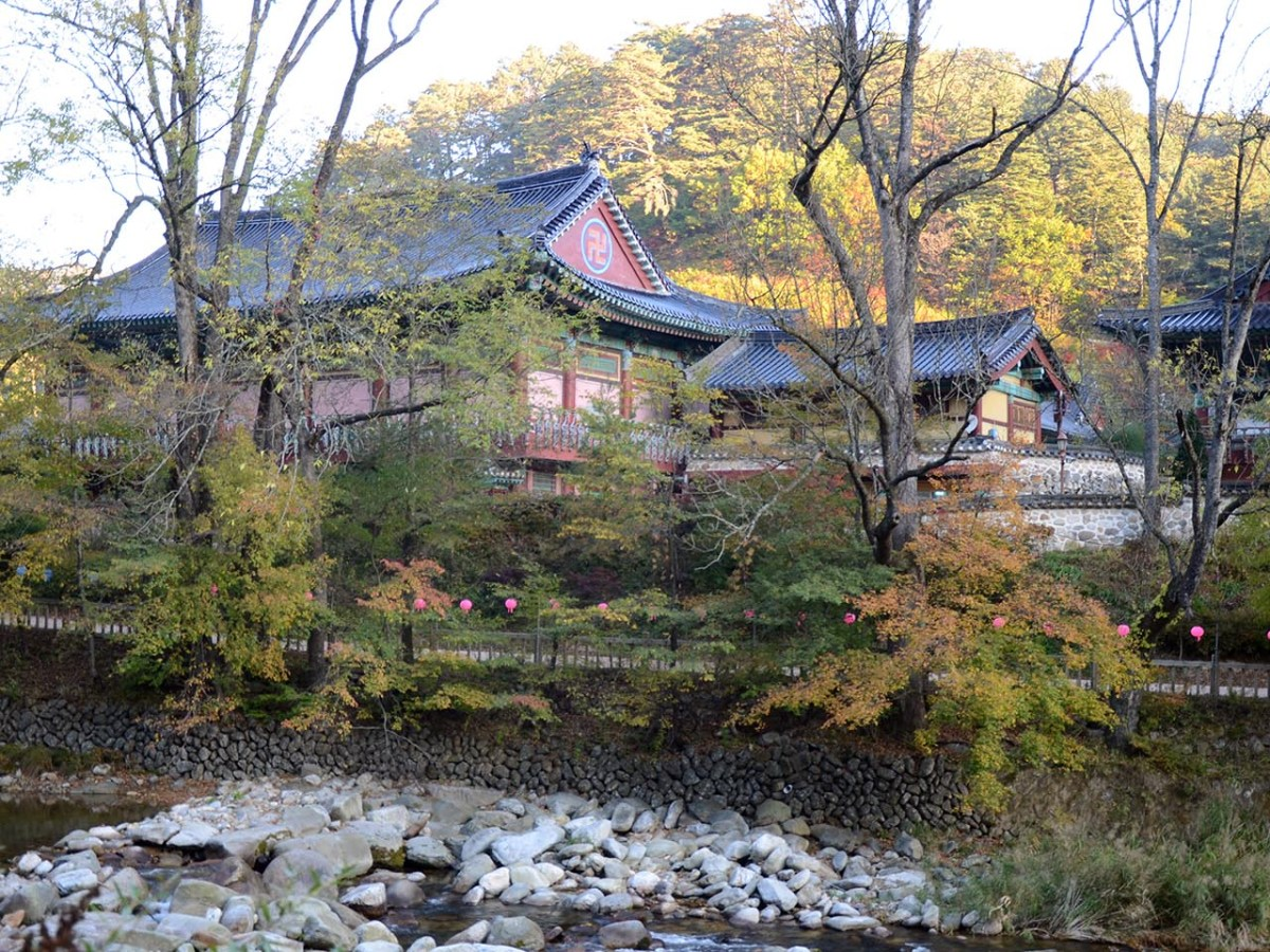The Woljeongsa Temple sits in the middle of the mountainous Odasan National Park one hour's drive north of  PyeongChang, South Korea. Photo: David DeVoss/Asia Times