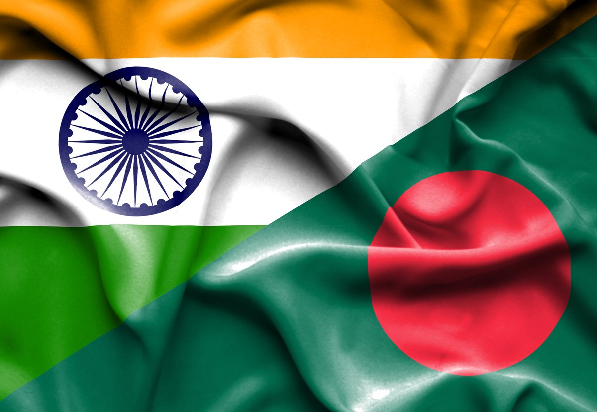 Waving flags of Bangladesh and India. Photo: iStock