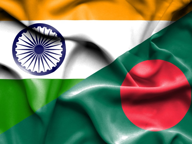 Waving flags of Bangladesh and India. Photo: iStock