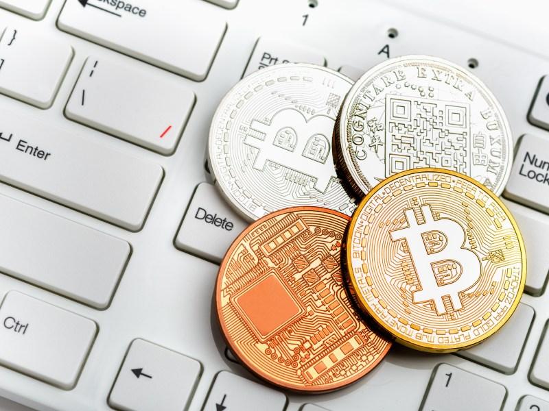 Bitcoin symbol. Photo: iStock