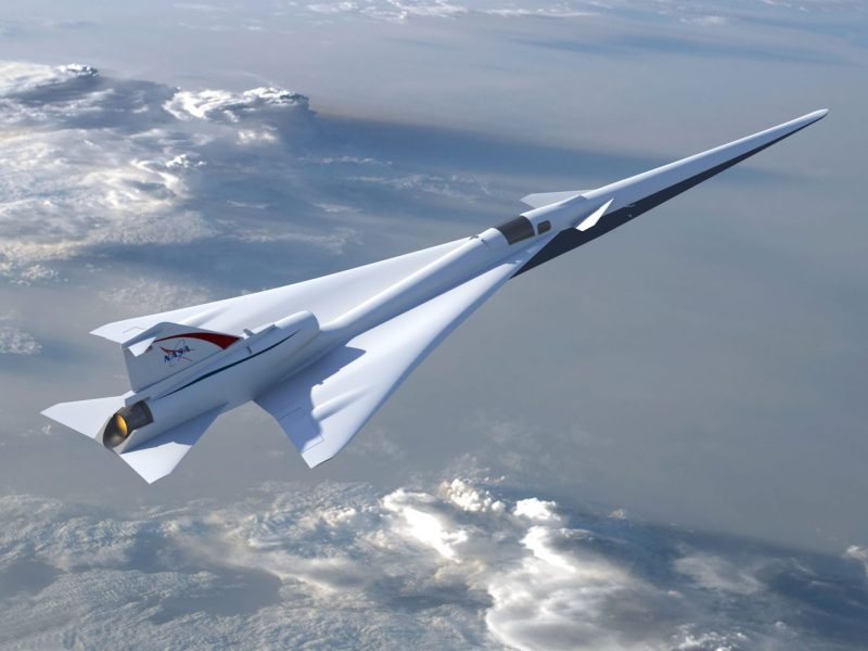Illustration of the Low-Boom Flight Demonstrator experimental supersonic aircraft. Source: NASA