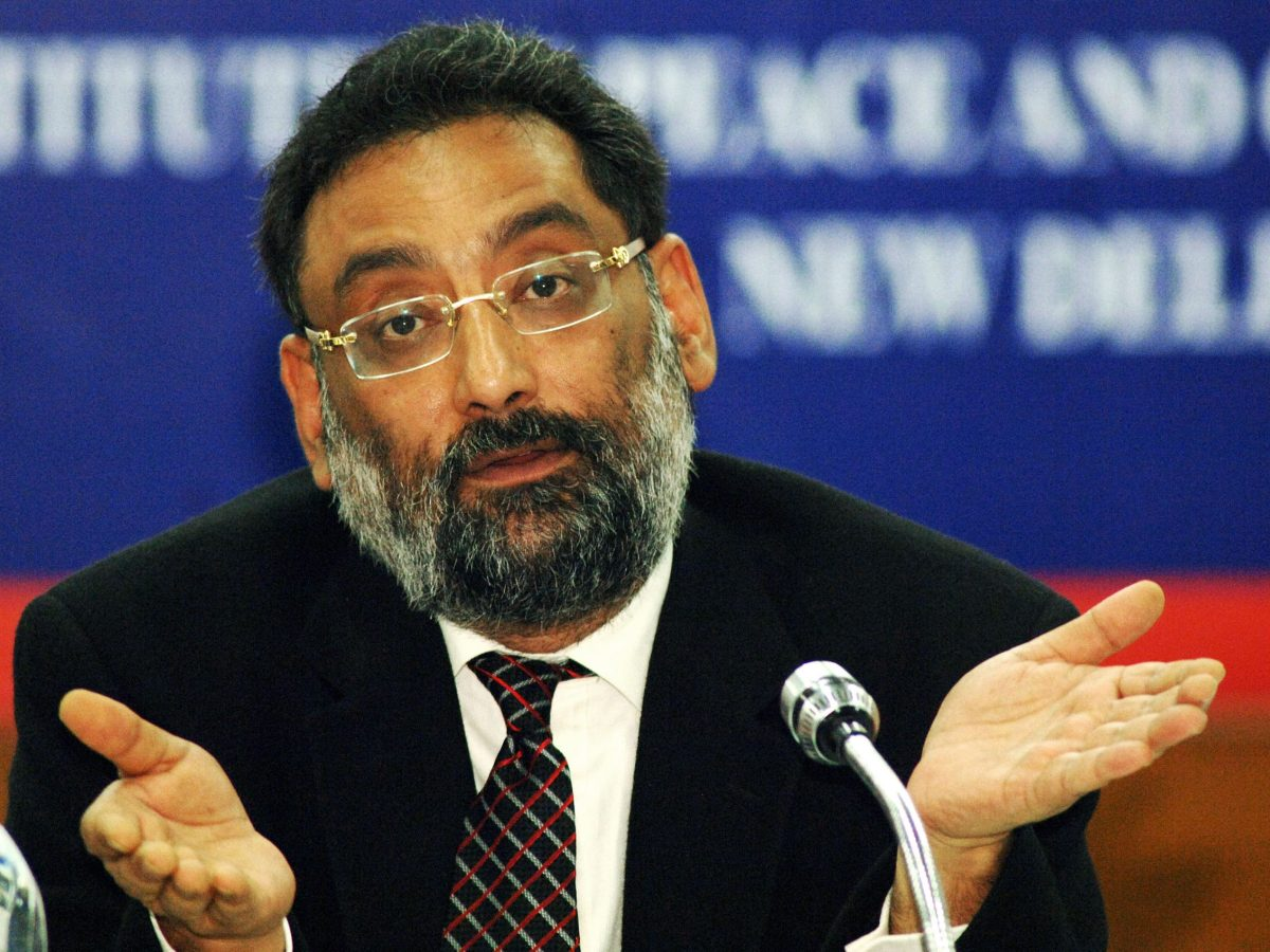 Dr Haseeb Drabu. Photo: AFP / Tauseef Mustafa