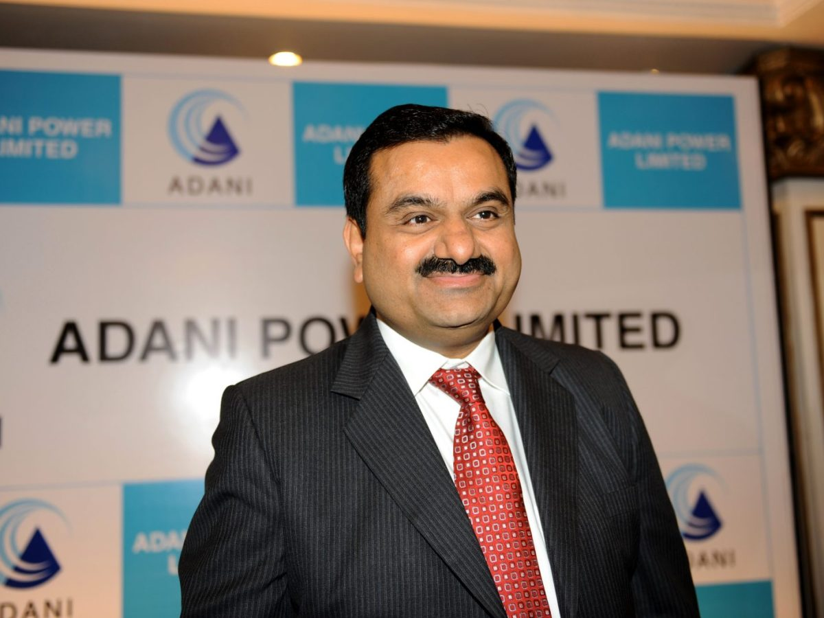 Business tycoon Gautam Adani smiles after addressing the media in Ahmedabad. Photo: AFP/ Sam Panthaky