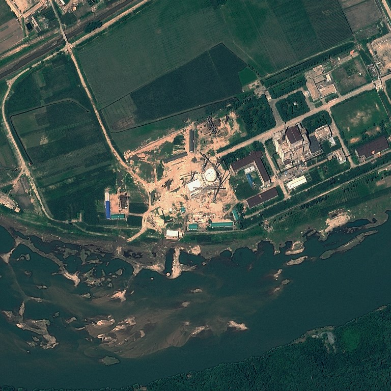 A  satellite image of the Yongbyon Nuclear Scientific Research Center in North Korea. GeoEye via AFP