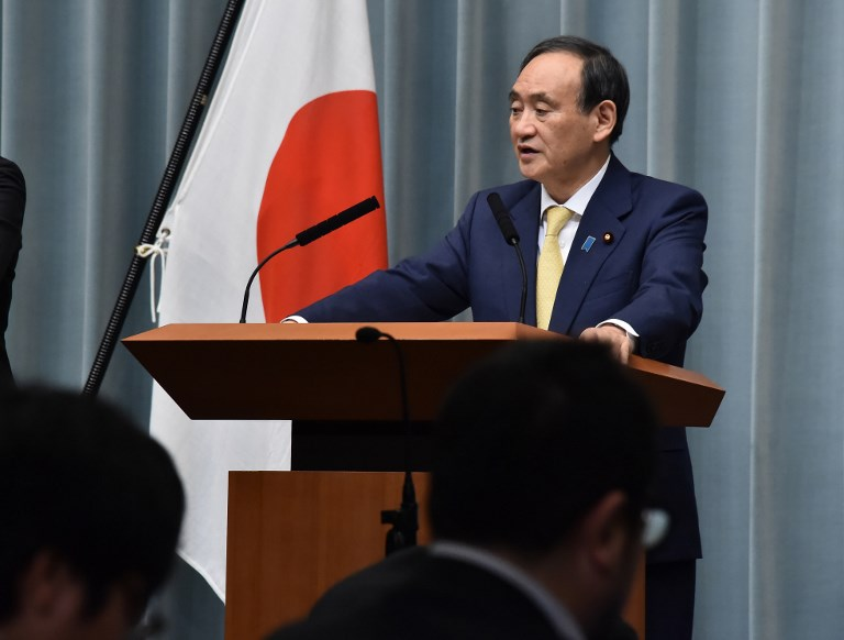 Chief Cabinet Secretary Yoshihide Suga. Photo: The Yomiuri Shimbun via AFP