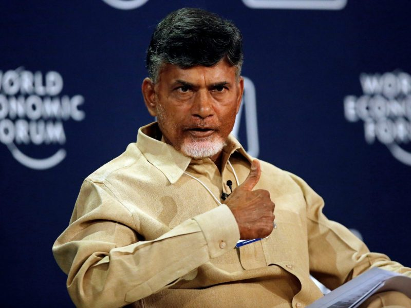 Chandrababu Naidu, chief minister of the southern state of Andhra Pradesh, speaks at the India Economic Summit at the World Economic Forum in New Delhi in Nov. 2014. He is a key leader from the South opposing the BJP. Photo: Reuters/ Anindito Mukherjee
