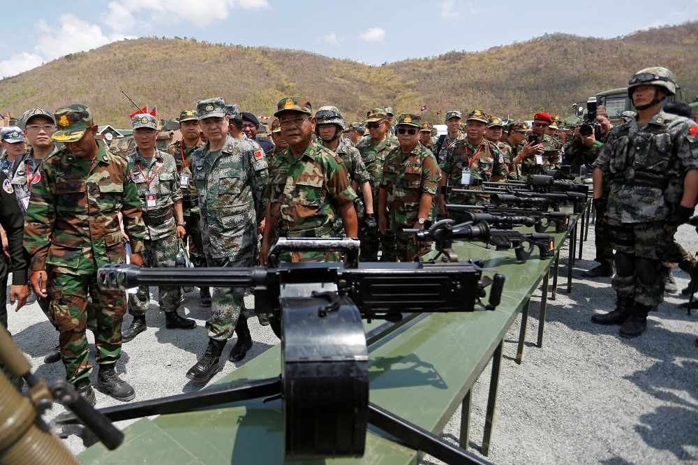 Chinese troops are seen at a barracks in Cambodia prior to a joint drill that started on Saturday. Photo: Reuters