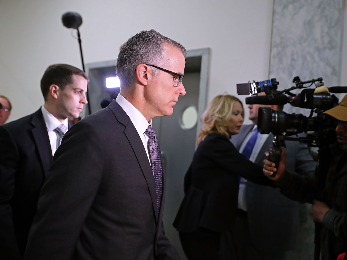 FBI Deputy Director Andrew McCabe has hit back after being fired. Photo: AFP/Chip Somodevilla