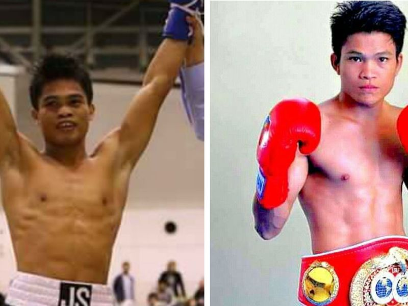 Jonas Sultan (left) will compete against Jerwin Ancajas (right), the current holder of the International Boxing Federation Junior Bantamweight title. Photos: Facebook, Jonas Sultan, Jerwin Ancajas