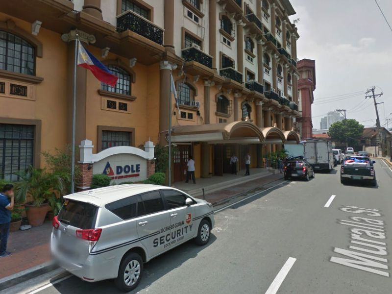The Department of Labor and Employment in Manila. Photo: Google Maps