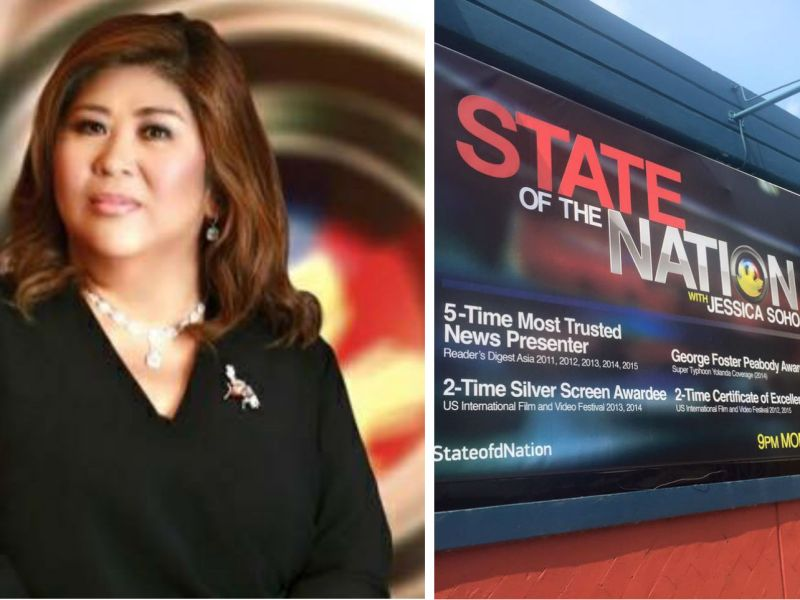 Jessica Soho was nominated for Best News Anchor and her news program, State of the Nation with Jessica Soho, was nominated as Best Newscast. Photos: Facebook, Jessica Soho