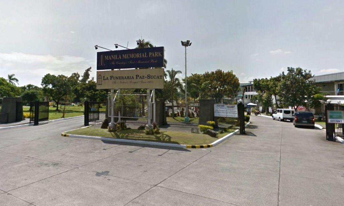 Manila Memorial Park in Parañaque City, Philippines. Photo: Google Maps