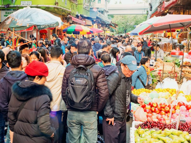 Wet market in Mong Kok, Kowloon Photo: Istockphoto