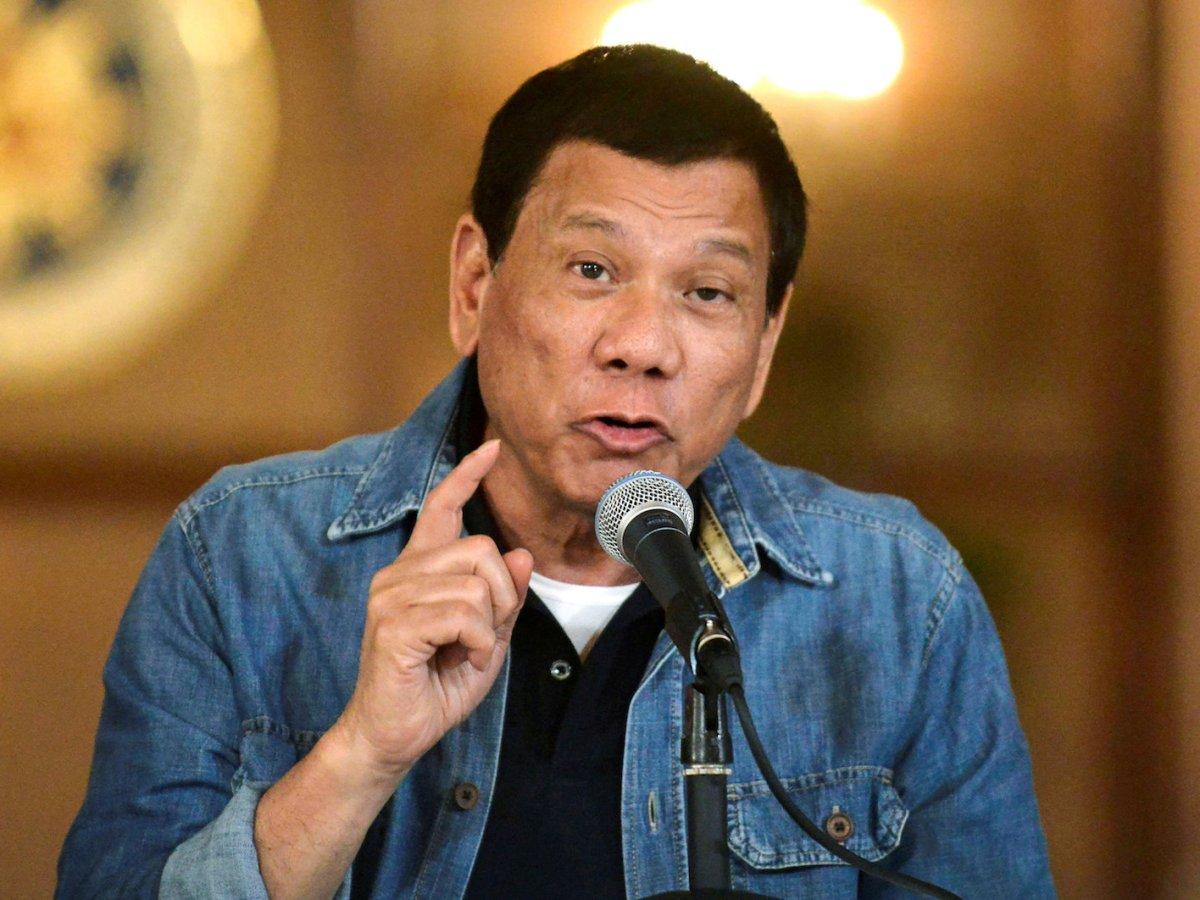 Philippine President Rodrigo Duterte at a press conference on his drug war at Malacanang palace in Manila, January 30, 2017. Photo: Reuters/Ezra Acayan