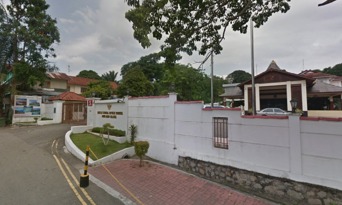 The Indonesian Embassy in Johor Bahru, Malaysia. Photo: Google Maps