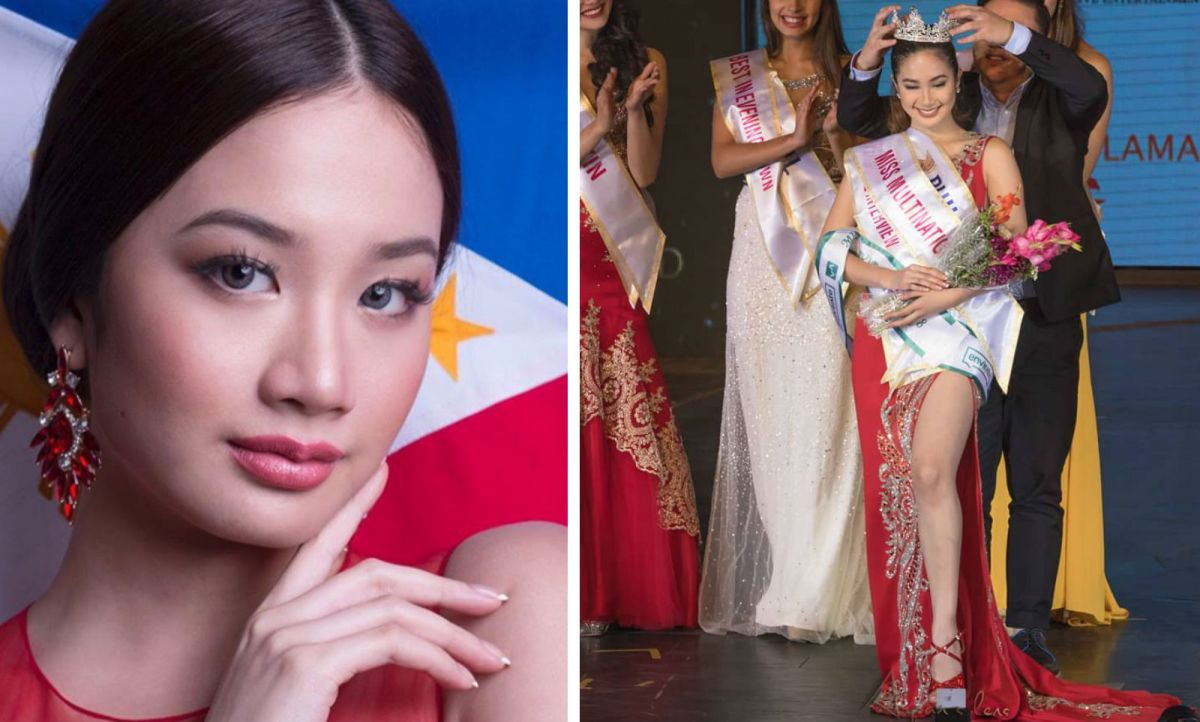 Filipino Sophia Senoron has won the first ever Miss Multinational pageant. Photos: Facebook, Instagram