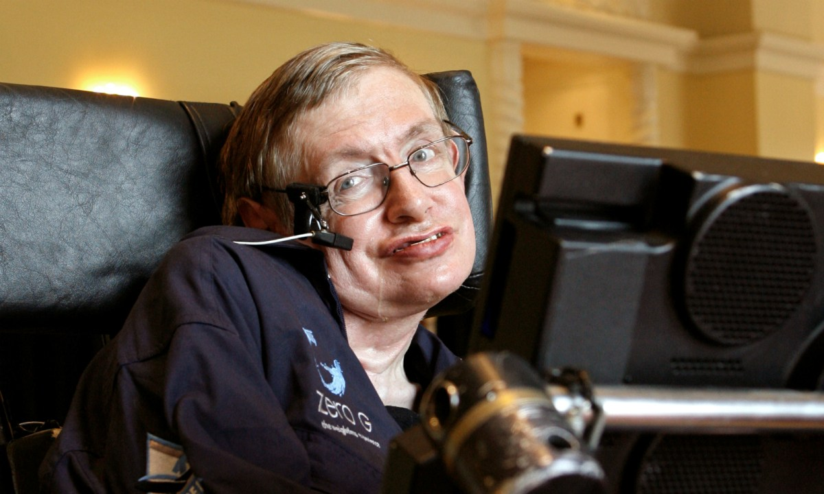 British physicist Stephen Hawking answers questions during an interview in 2007. Photo: Reuters/Charles W Luzier