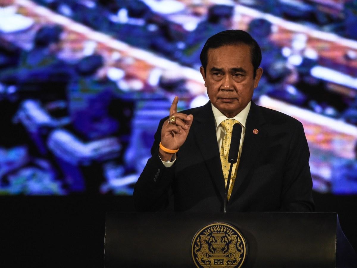 Thai Prime Minister Prayut Chan-ocha speaks during a media press conference at Government House in Bangkok on September 15, 2016. Photo: AFP/Lillian Suwanrumpha