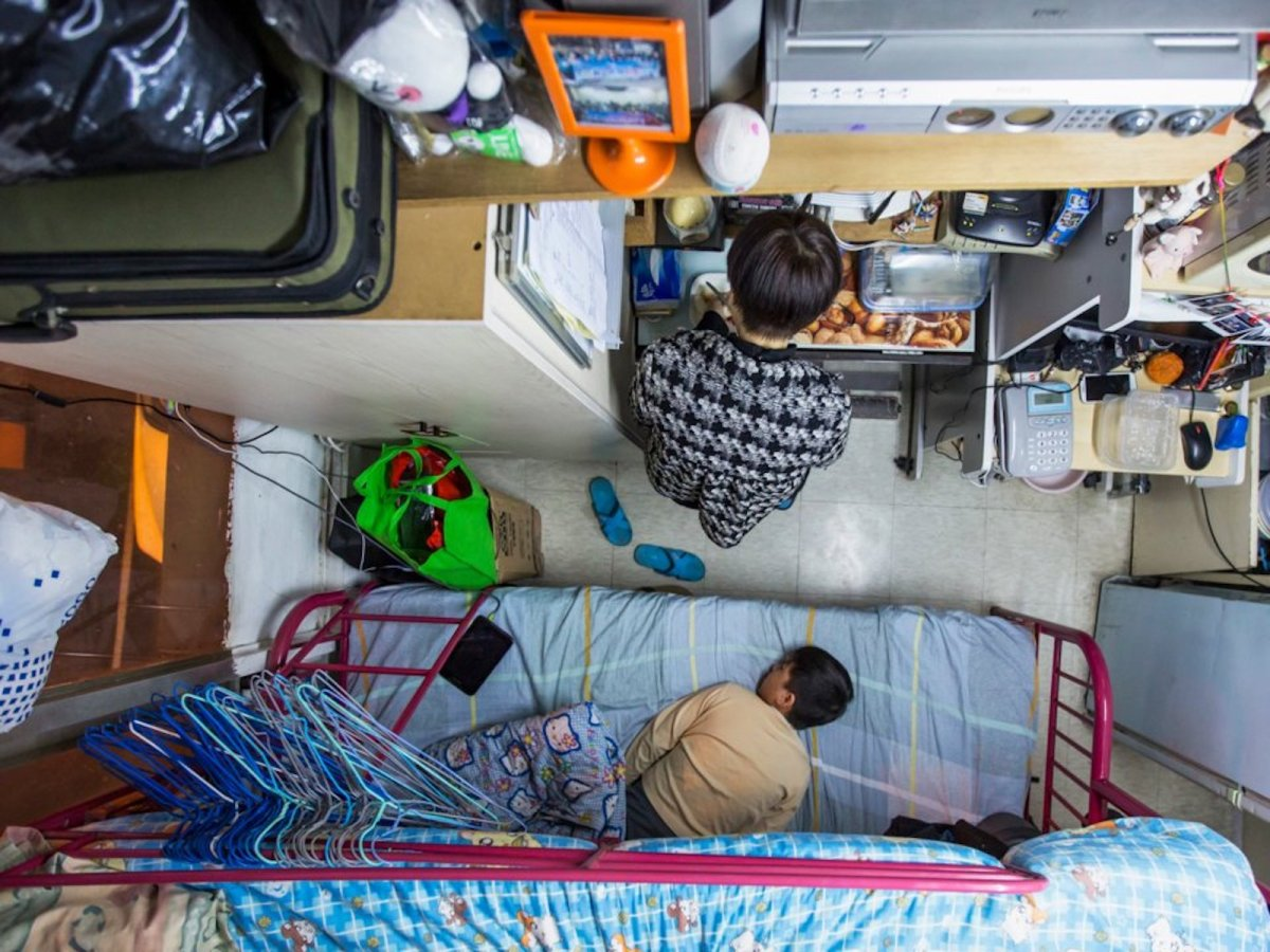 Life in a 'cubicle' in Hong Kong. Photo: Reuters