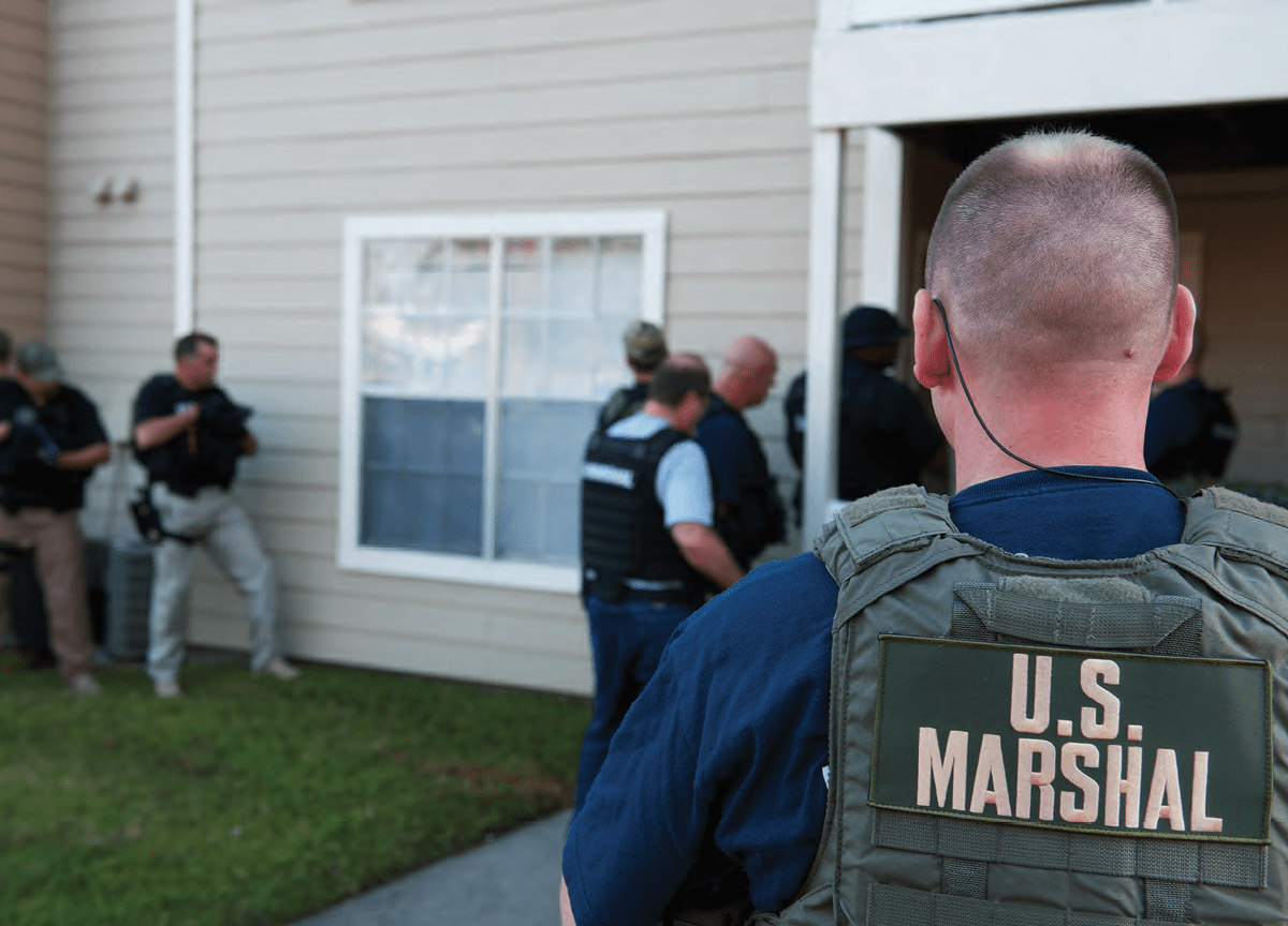 US Marshals in action, minus the horses. Photo: United States Marshals Service