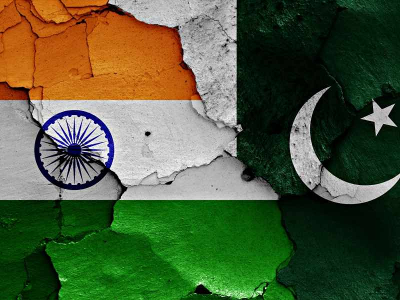 National flags of India and Pakistan. Photo: iStock