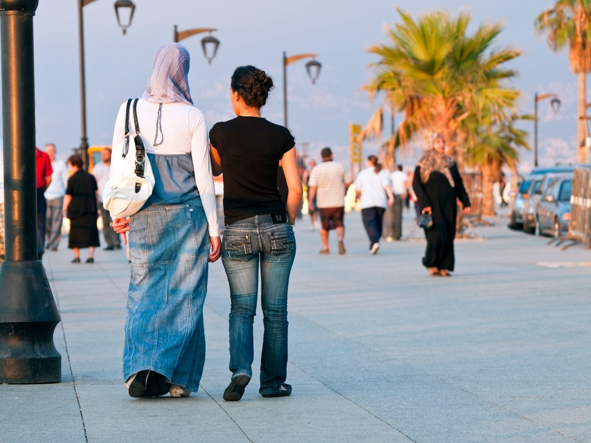A file shot from Sept 2010 showing Lebanese women walking along the Beirut Corniche late in the afternoon. Photo: iStock