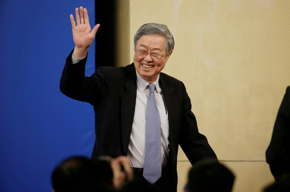 Zhou Xiaochuan, the outgoing Governor of the People's Bank of China. Photo: Reuters / Jason Lee