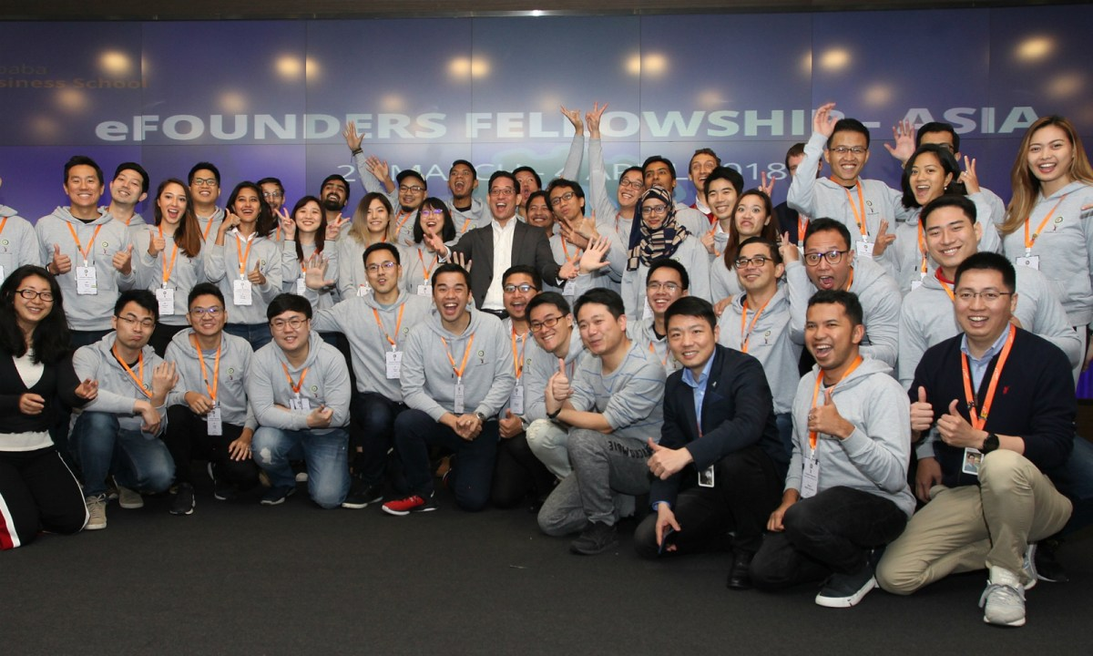 A total of 37 Asian entrepreneurs have been enrolled for the eFounders Initiative at a held on the Alibaba campus in Hangzhou, China. Photo: Alibaba