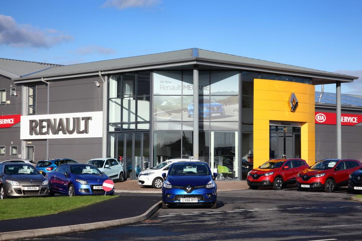 Renault car showroom in Kidwelly, Wales, UK, November 20, 2016. Photo: iStock