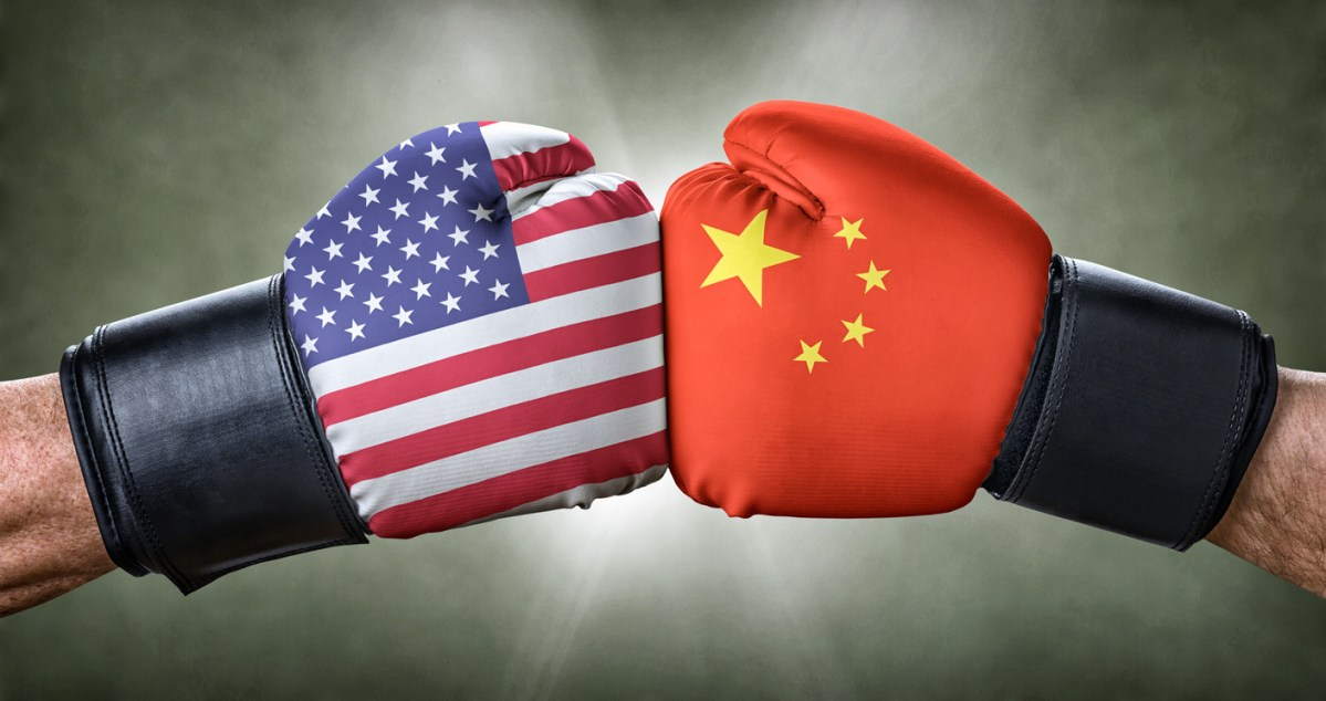 A boxing match between the USA and China. Image: iStock