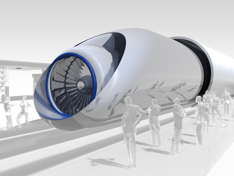 A hyper loop train. Image: iStock