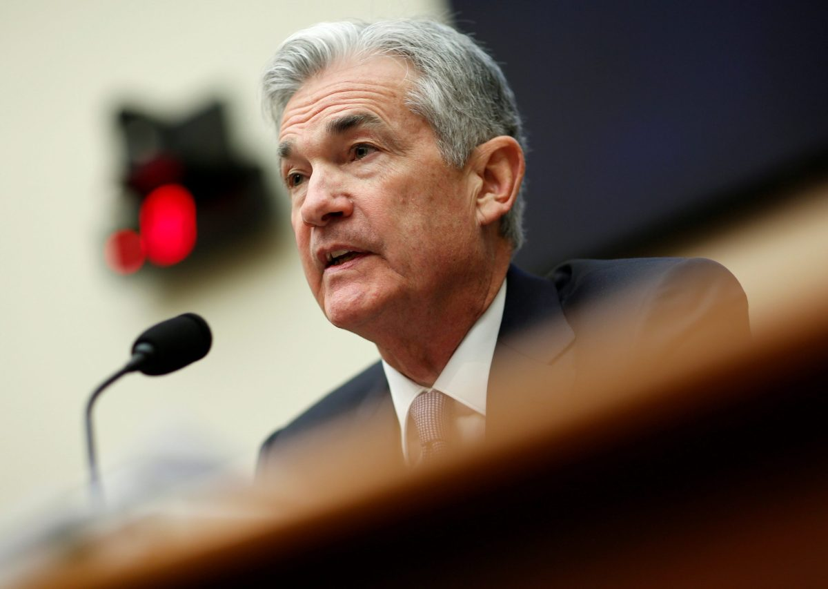 Federal Reserve chairman Jerome Powell. Photo: Reuters/Joshua Roberts