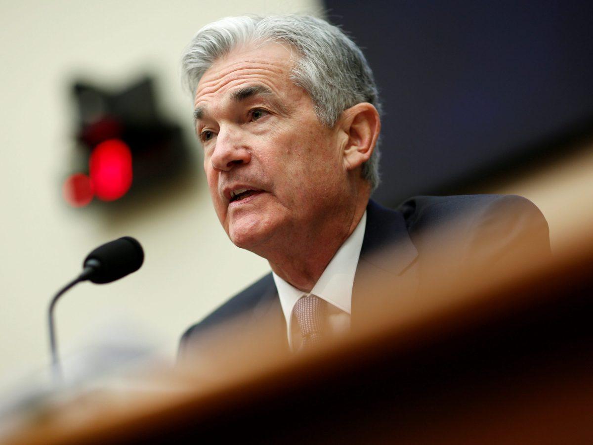 Federal Reserve chairman Jerome Powell. Photo: Reuters/Joshua Roberts