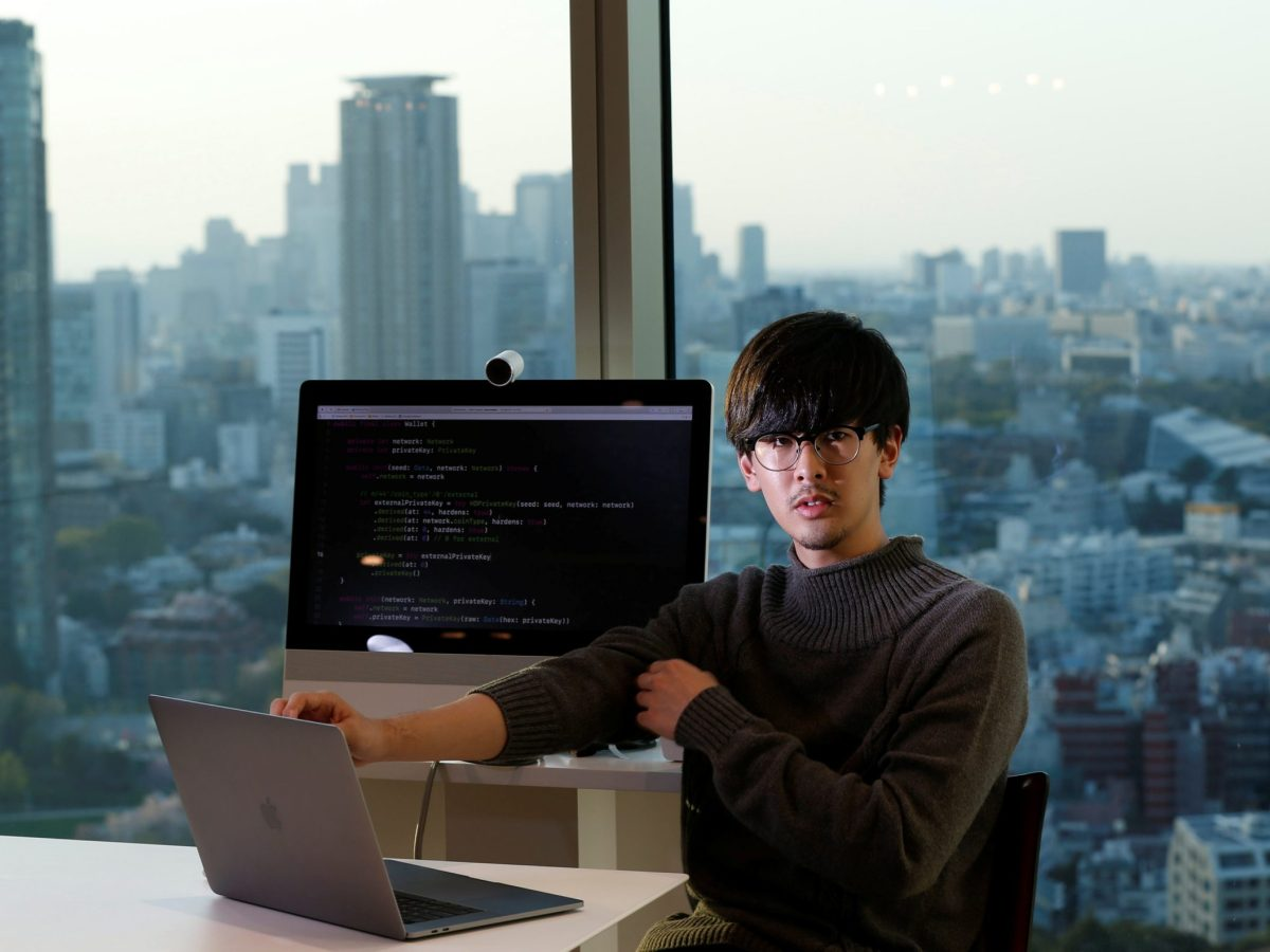 Ryo Fukuda, a Japanese blockchain software engineer,  in Tokyo in March 2018. Photo: Reuters / Toru Hanai