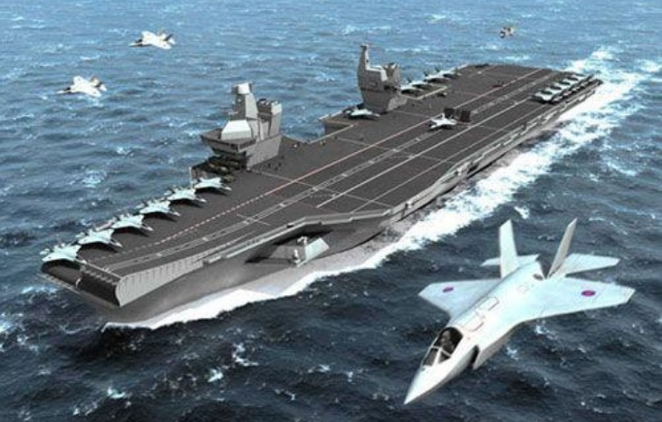 A computer-generated conceptual rendering of the second Chinese carrier to be built in Shanghai. Photo: Weibo