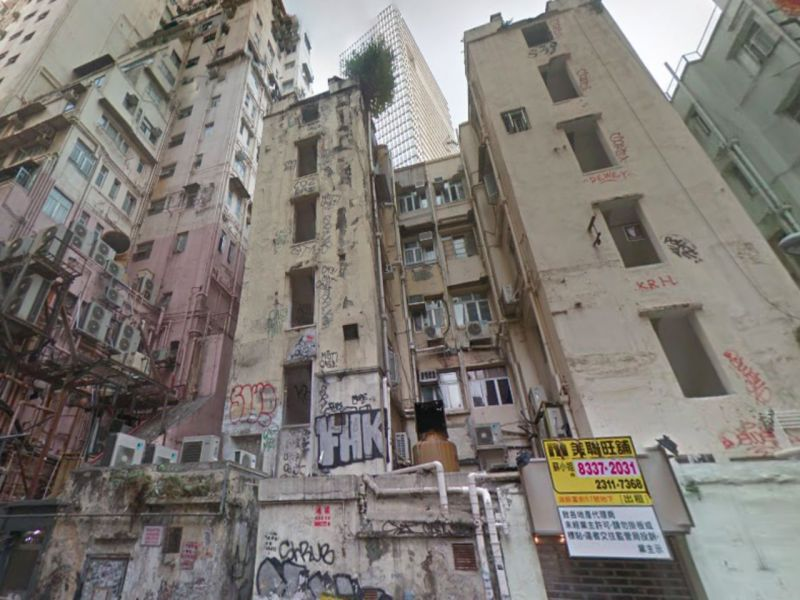 Tenement buildings in Causeway Bay on Hong Kong Island. Photo: Google Maps
