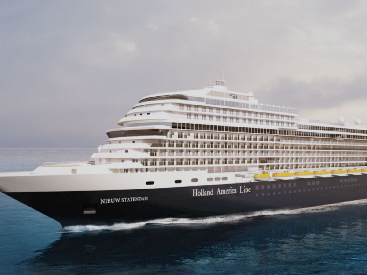 Nieuw Statendam, Holland America Line's new ship, will be launched in December this year. Photo: Holland America Line