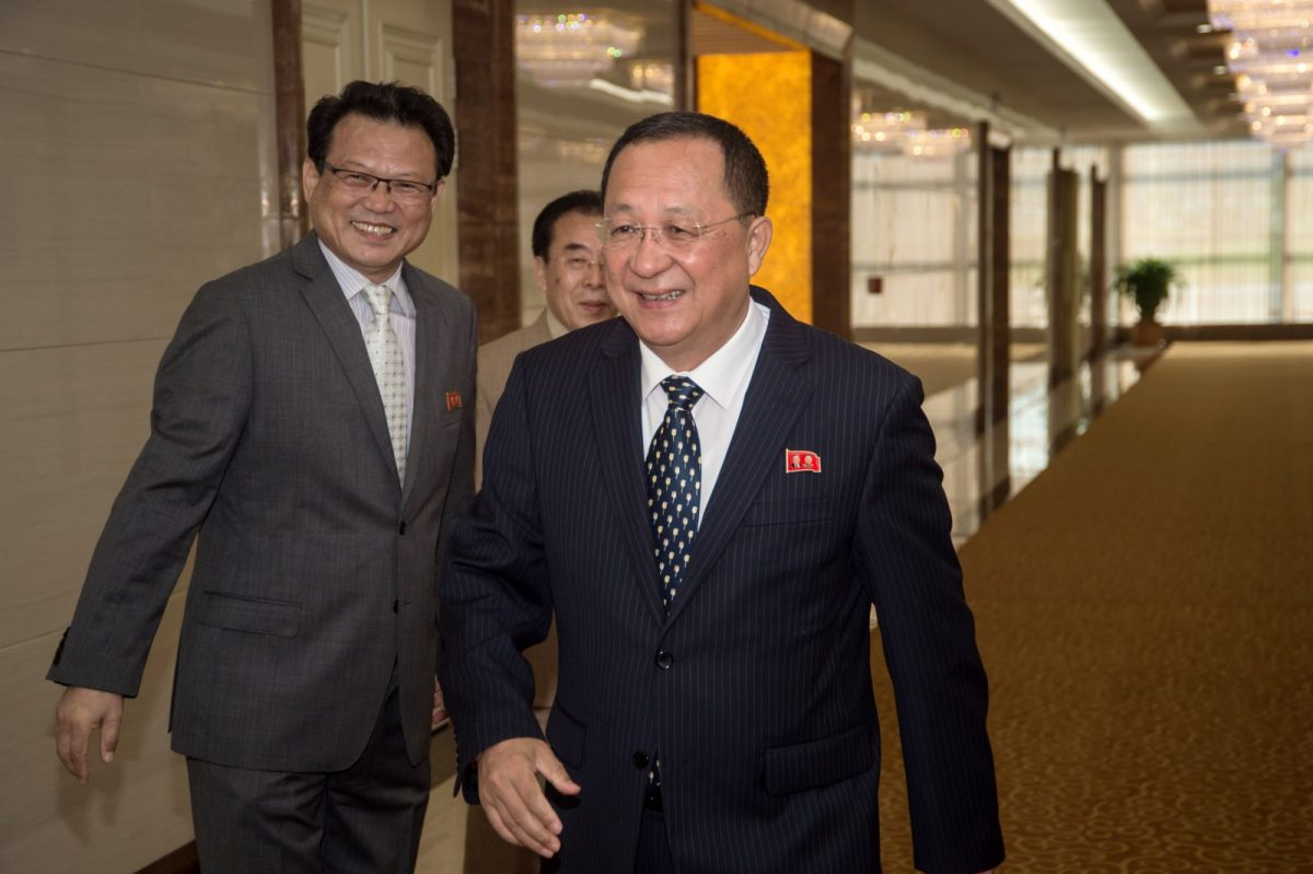 North Korea's foreign minister Ri Yong Ho leaves Pyongyang for an ASEAN Regional Forum in Manila. PHOTO: AFP/KIM Won-Jin