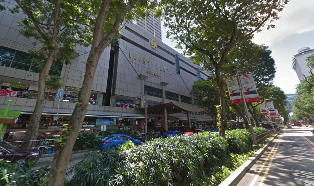 Lucky Plaza on Orchard Road, Singapore. Photo: Google Maps