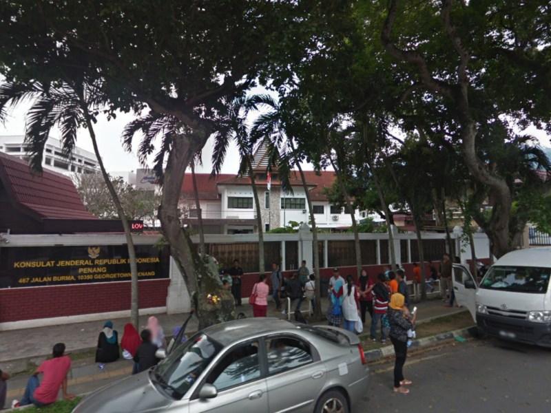 Konsulat Jenderal Republik Indonesia in Penang, Malaysia. Photo: Google Maps