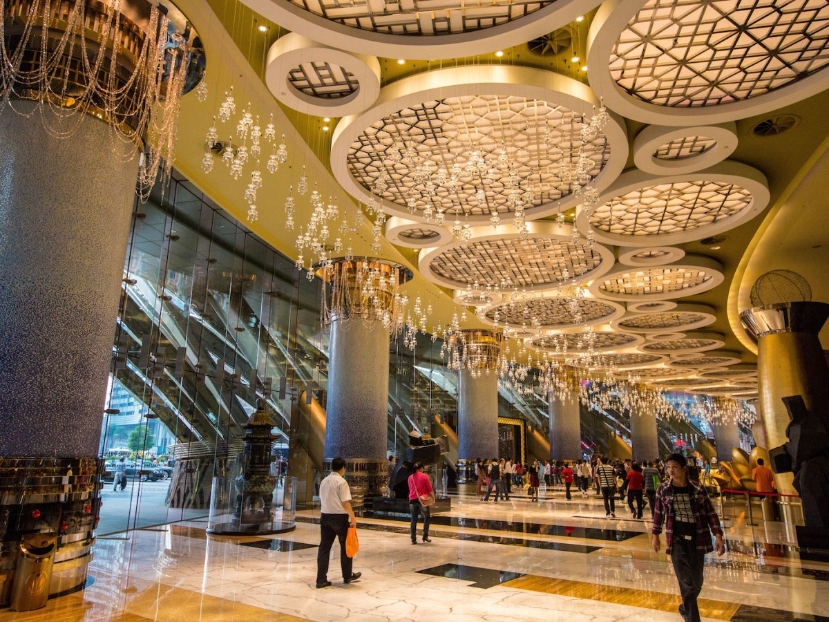 The opulent Grand Lisboa, which is owned by Stanley Ho's SJM Holdings group, in Macau. Photo: AFP