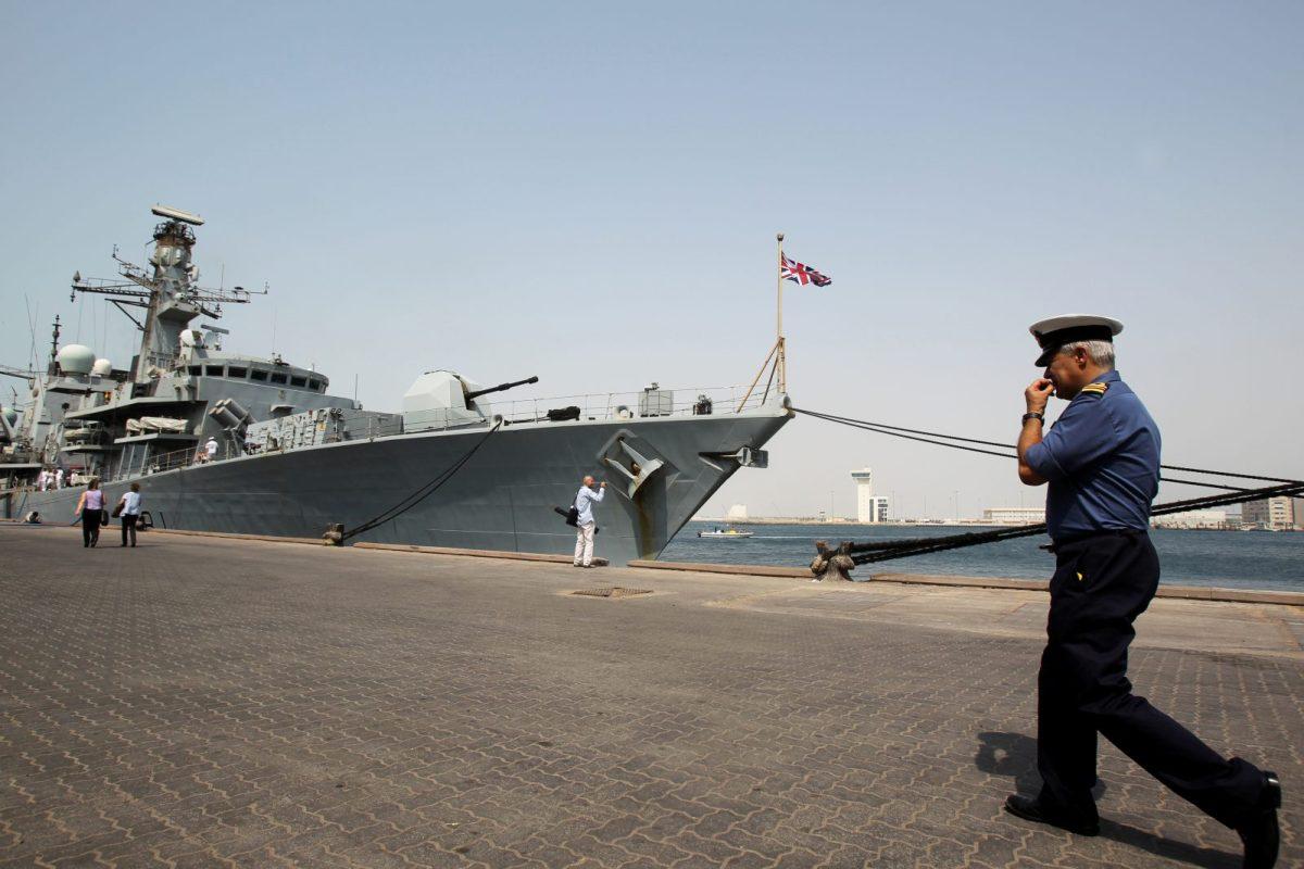 The HMS Sutherland at port in Abu Dhabi in 2011. Photo: AFP/KARIM SAHIB
