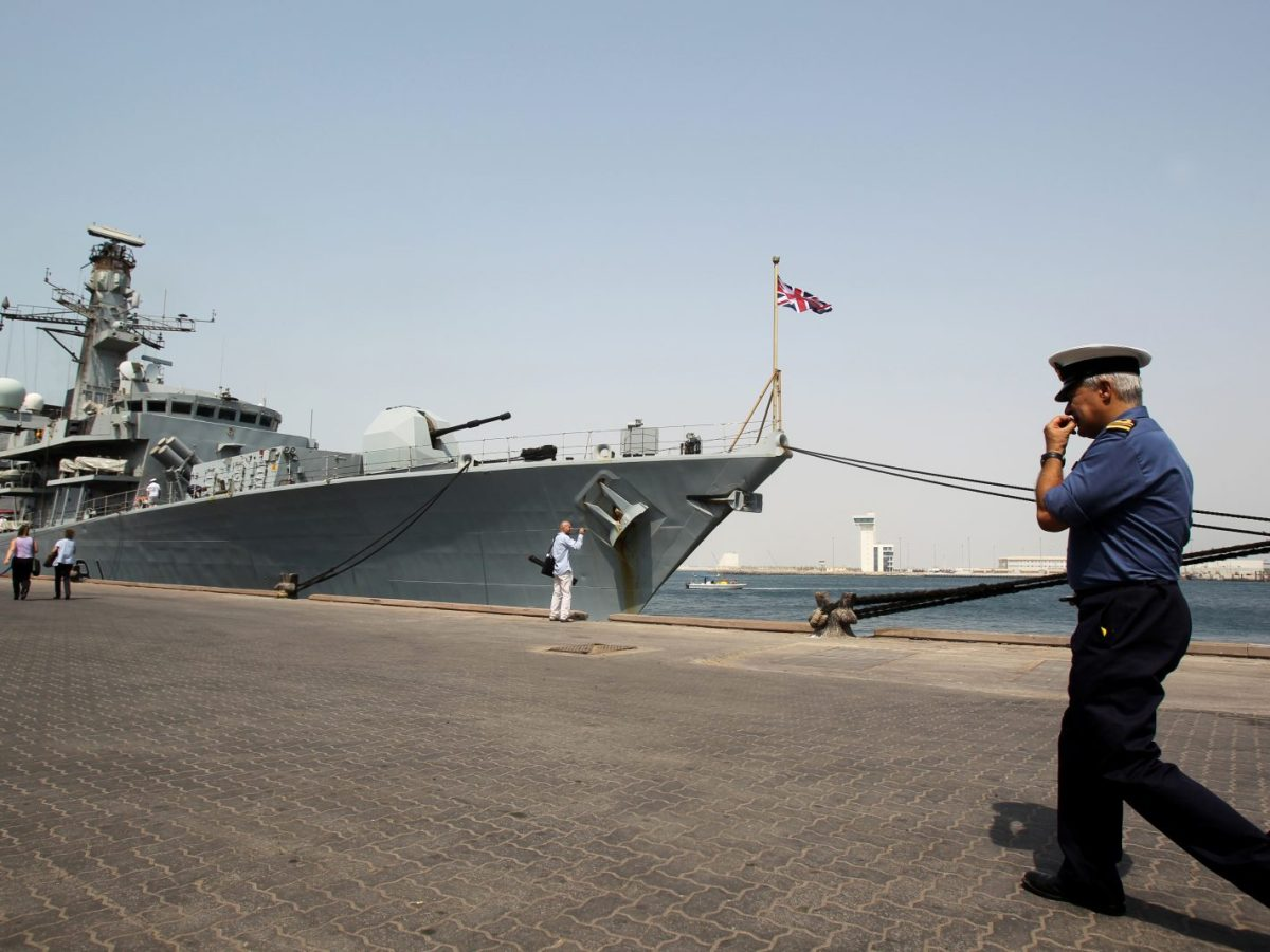 The HMS Sutherland at port in Abu Dhabi in 2011. Photo: AFP/KARIM SAHIB