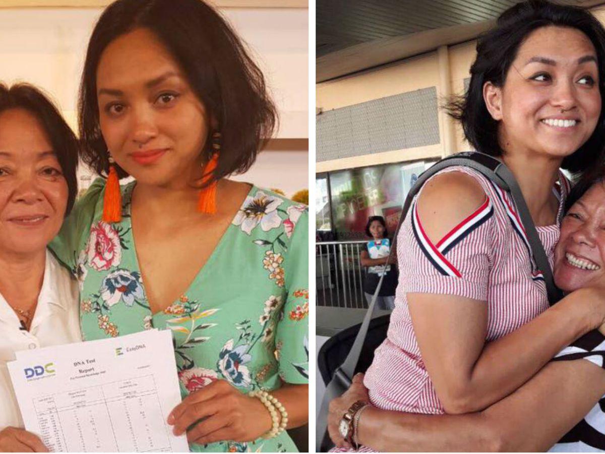 Caroline Van Gills was reunited with her mother Lelia Mahayag after 38 years. Photos: Facebook/ GMA - Kapuso Mo, Jessica Soho